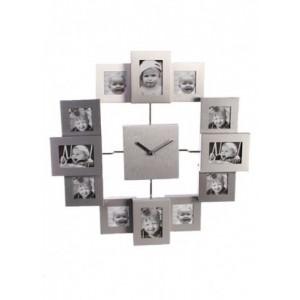 Foto hodiny - strieborné