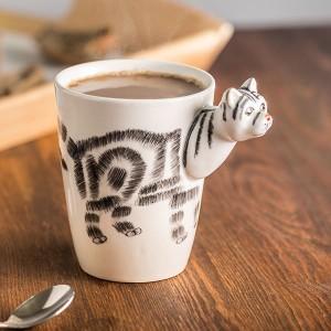 Hrnček s 3D zvieratkom - mačka