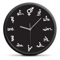 Nástenné hodiny Kamasutra - čierne