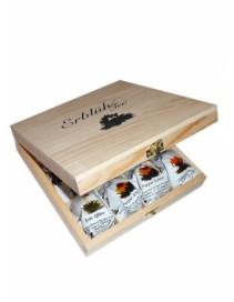 Exkluzívna drevená skrinka 12 ks - čierny čaj