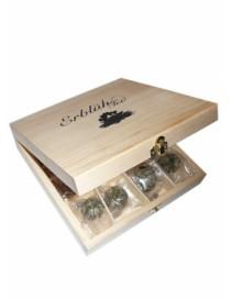 Darčeky - Exkluzívna drevená skrinka 12 ks - biely čaj