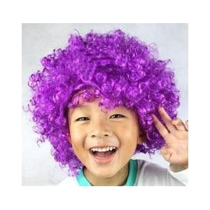 Afro parochňa - fialová